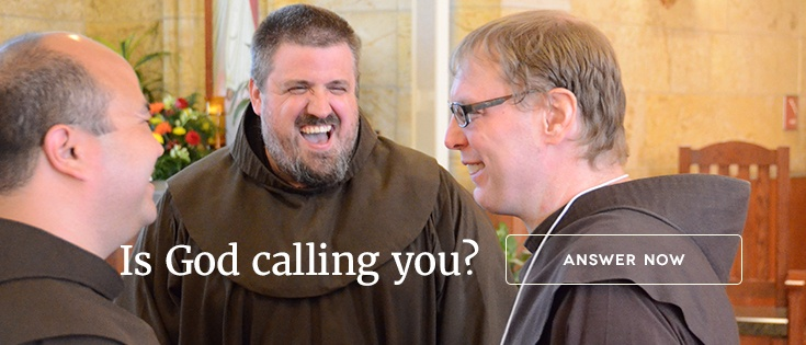 Franciscan Vocations blog footer CTA