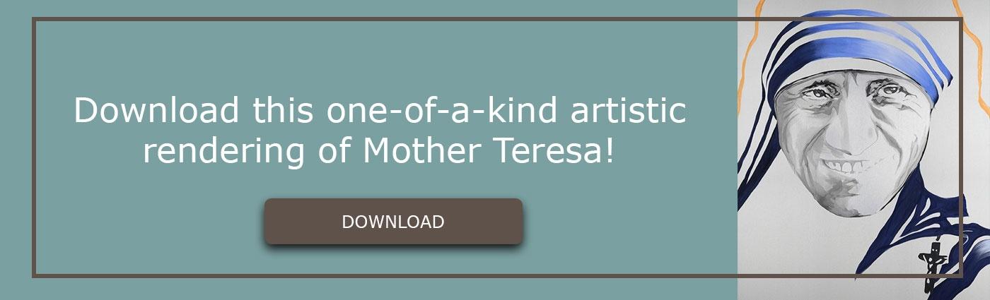 Download artistic rendering of mother teresa