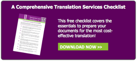 Translation Services  Checklist