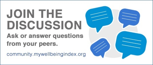 Join the Well Being Index Community