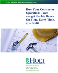 Contractor Operations Team Project Management