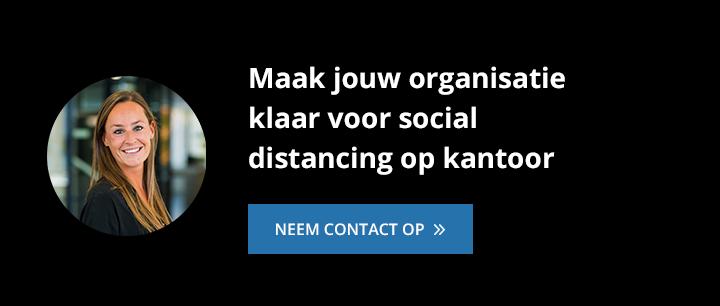 social distancing kantoor