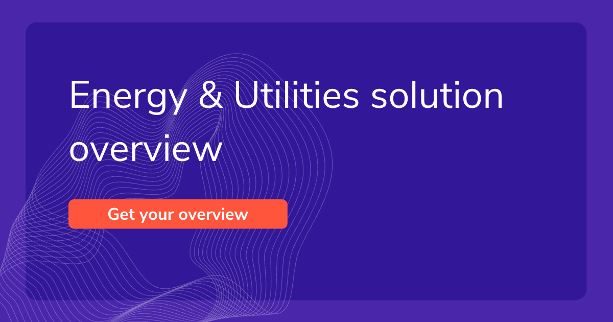 Energy & Utilities solution overview recommended