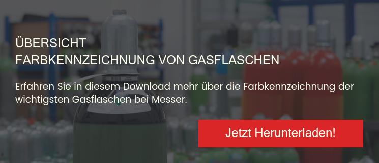 Farbkennzeichnung von Gasflaschen