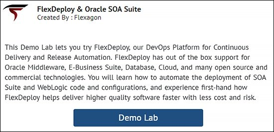 FlexDeploy and Oracle SOA Suite Demo Lab