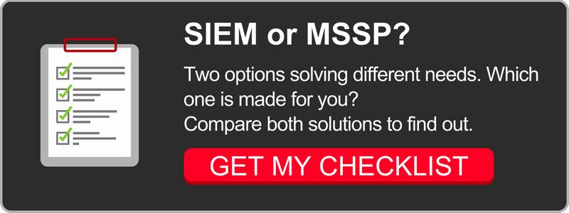 SIEM vs. MSSP Checklist
