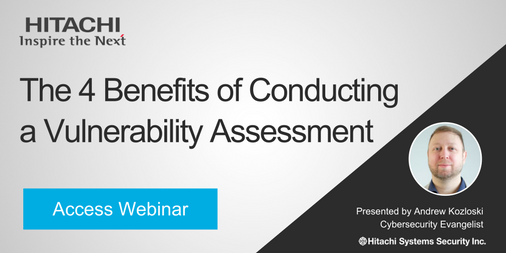 Webinar Benefits of a Vulnerability Assessment