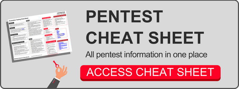 Pentest cheat sheet
