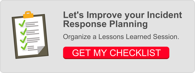 Incident Response Planning - Lessons Learned Checklist