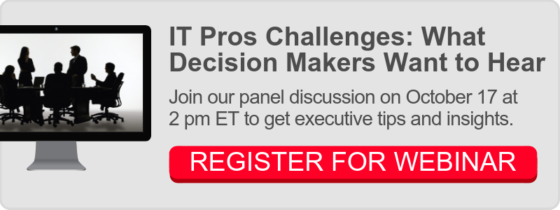 IT Pros Challenges Webinar