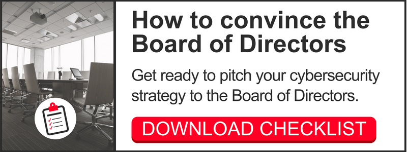 Download checklist: How to pitch cybersecurity to the board of directors
