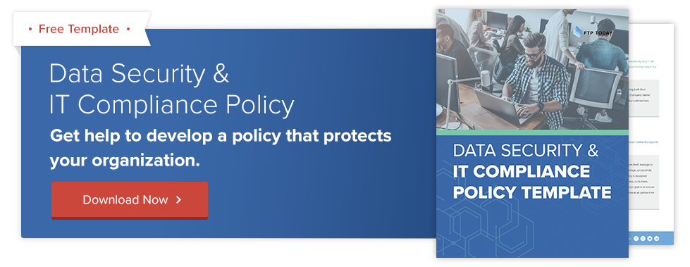 data security it compliance policy template free download