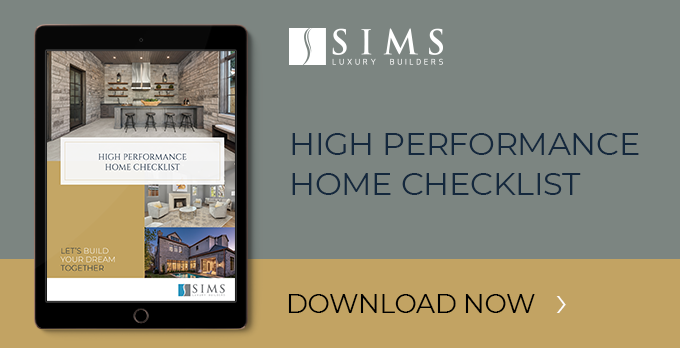 High performance home checklist