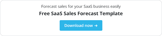 Free saas sales forecast template