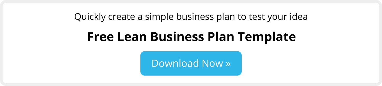 Download free lean business plan template