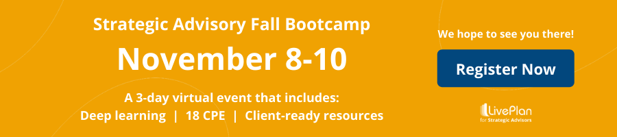 Strategic Advisory Fall Bootcamp — November 8-10. Register now for the 3-Day Virtual Event