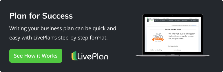 Plan for success. Writing your business plan can be quick and easy with LivePlan's step-by-step format. See how it works