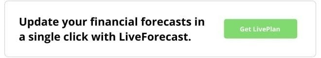 Update your financial forecasts in a single click with LiveForecast. Get LivePlan