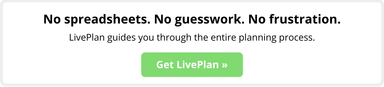 LivePlan no guesswork