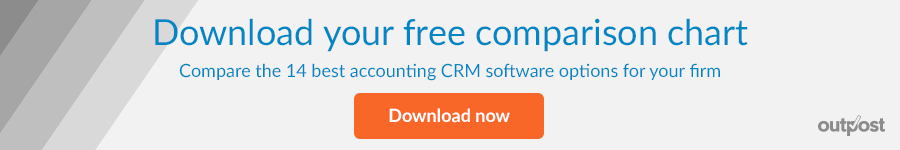 Download your free comparison of the 14 best accounting CRM options