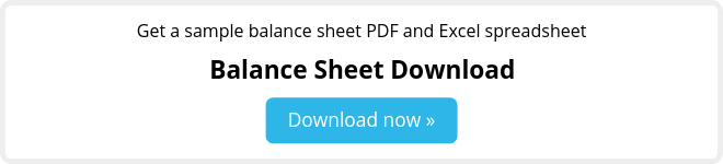 Free balance sheet template download