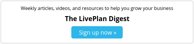 Sign up for the LivePlan newsletter