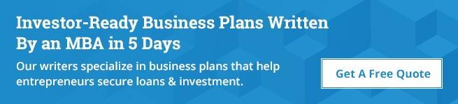 Get your free business plan quote today!