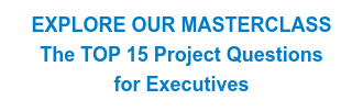 EXPLORE OUR MASTERCLASS The TOP 15 Project Questions  for Executives