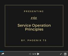 Service Operation Principles Slide Deck