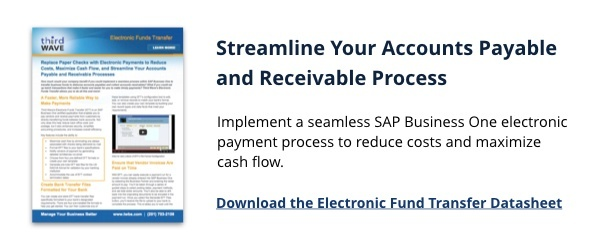 Electronic Funds Transfer (EFT) | SAP Business One | Third