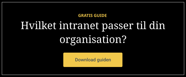 Guide: Hvilket intranet passer til din organisation?