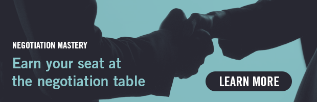 Negotation Mastery -- Earn your seat at the negotation table.  Learn more!