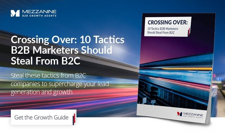 10 Tactics B2B marketers should steal B2C red bg