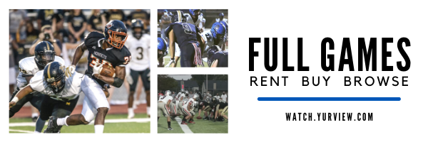 Rent, Buy and Browse High School Football games at watch.yurview.com