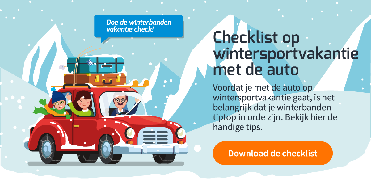 Download checklist op wintersportvakantie met de auto
