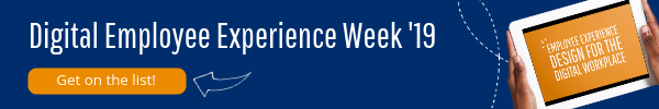 Button to register for digital employee experience week 2019
