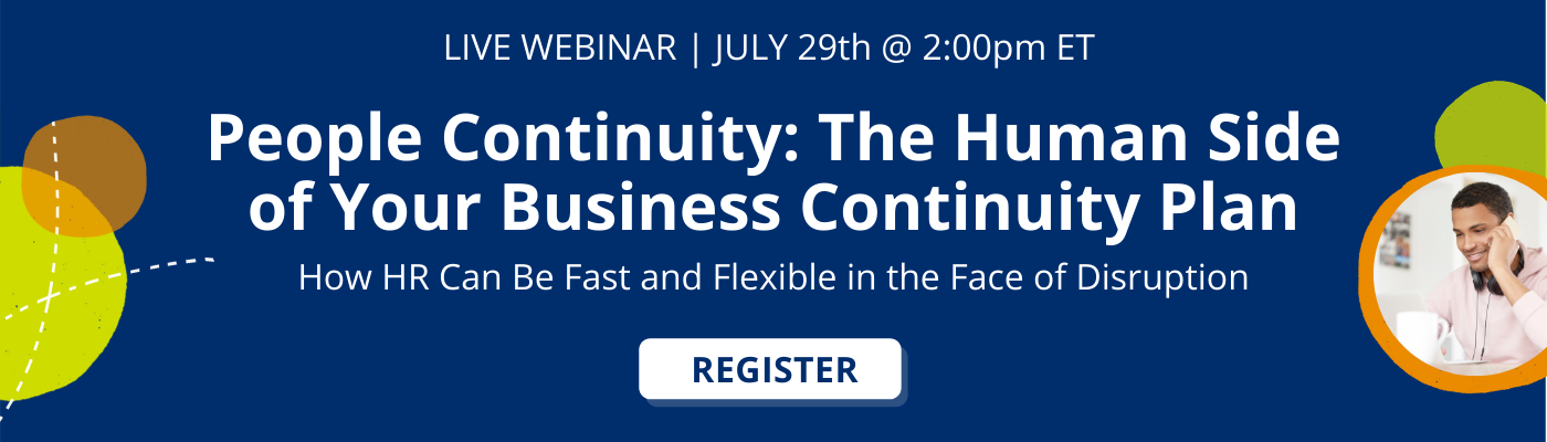 button to register for the webinar on people continuity