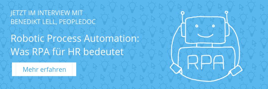 Robotic Process Automation - Was für HR drin ist