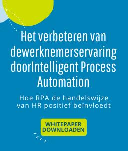 Het verbeteren van dewerknemerservaring door Intelligent Process Automation
