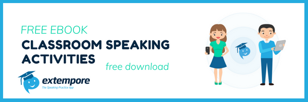 speaking activities ideas for language classrooms