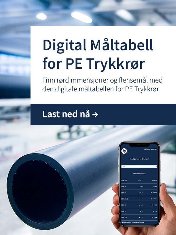 Last ned: Digital Måltabell for PE Trykkrør