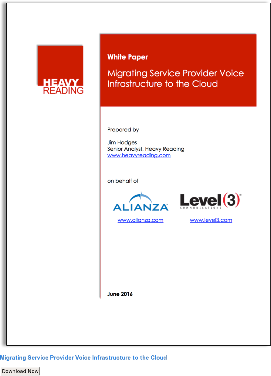 Migrating Service Provider Voice Infrastructure to the Cloud Download Now