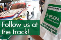 Follow us at the track!