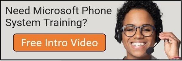 Microsoft Phone System Training Free Intro Video Banner