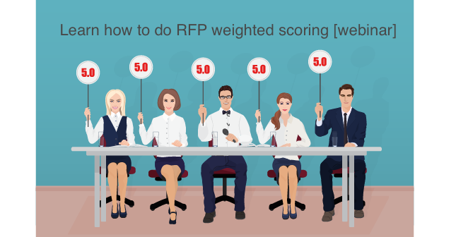 Learn how to do RFP weighted scoring [webinar]