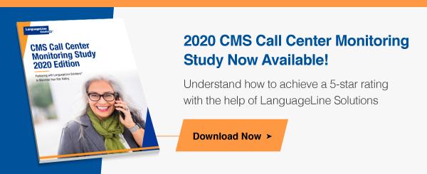 2020 CMS Call Center Monitoring Study