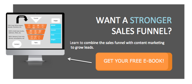 Combine content marketing and sales funnel to grow sales leads
