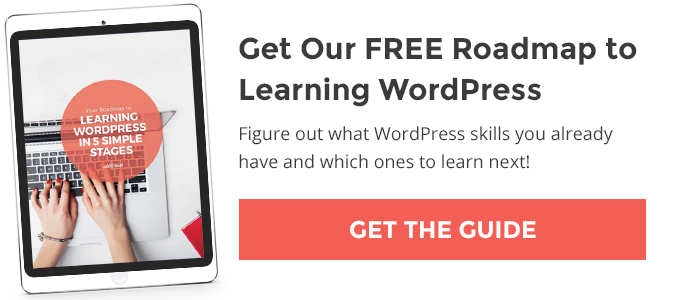 Get Our FREE Roadmap to Learning WordPress in 5 Simple Stages