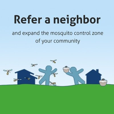 Biogents traps refer a neighbor neighborhood mosquito control