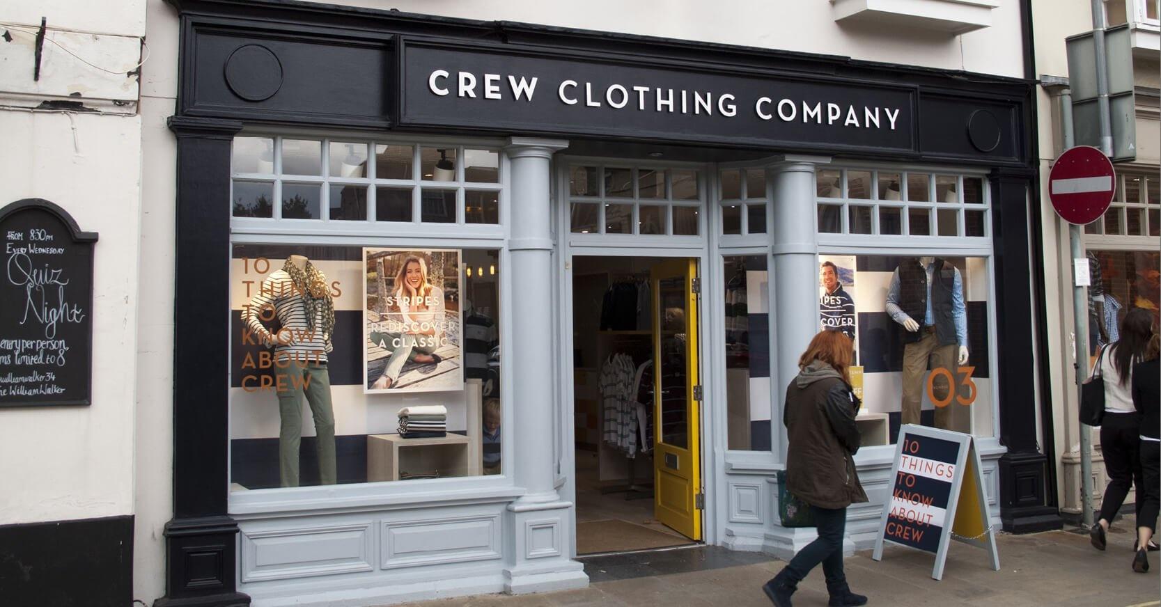 Crew Clothing Company Mobile Trading Platform Development